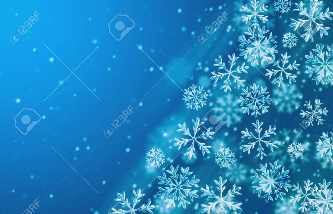 青い雪背景。冬の季節のイラストを背景します。 ロイヤリティーフリー
