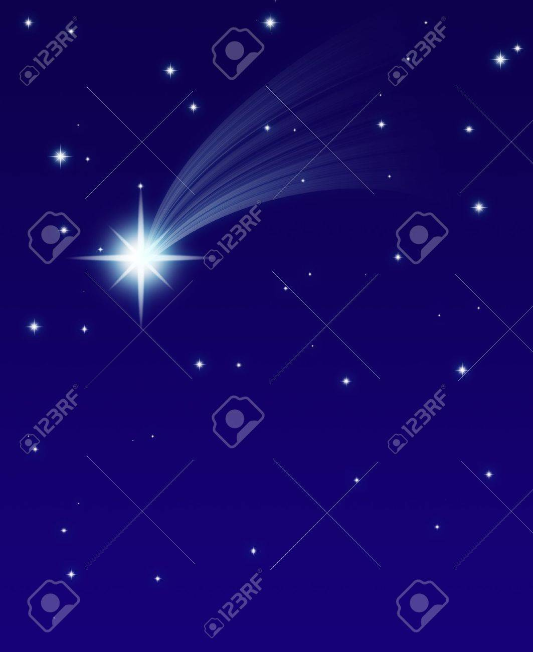 falling star, on a dark starry background Stock Photo - 16327820