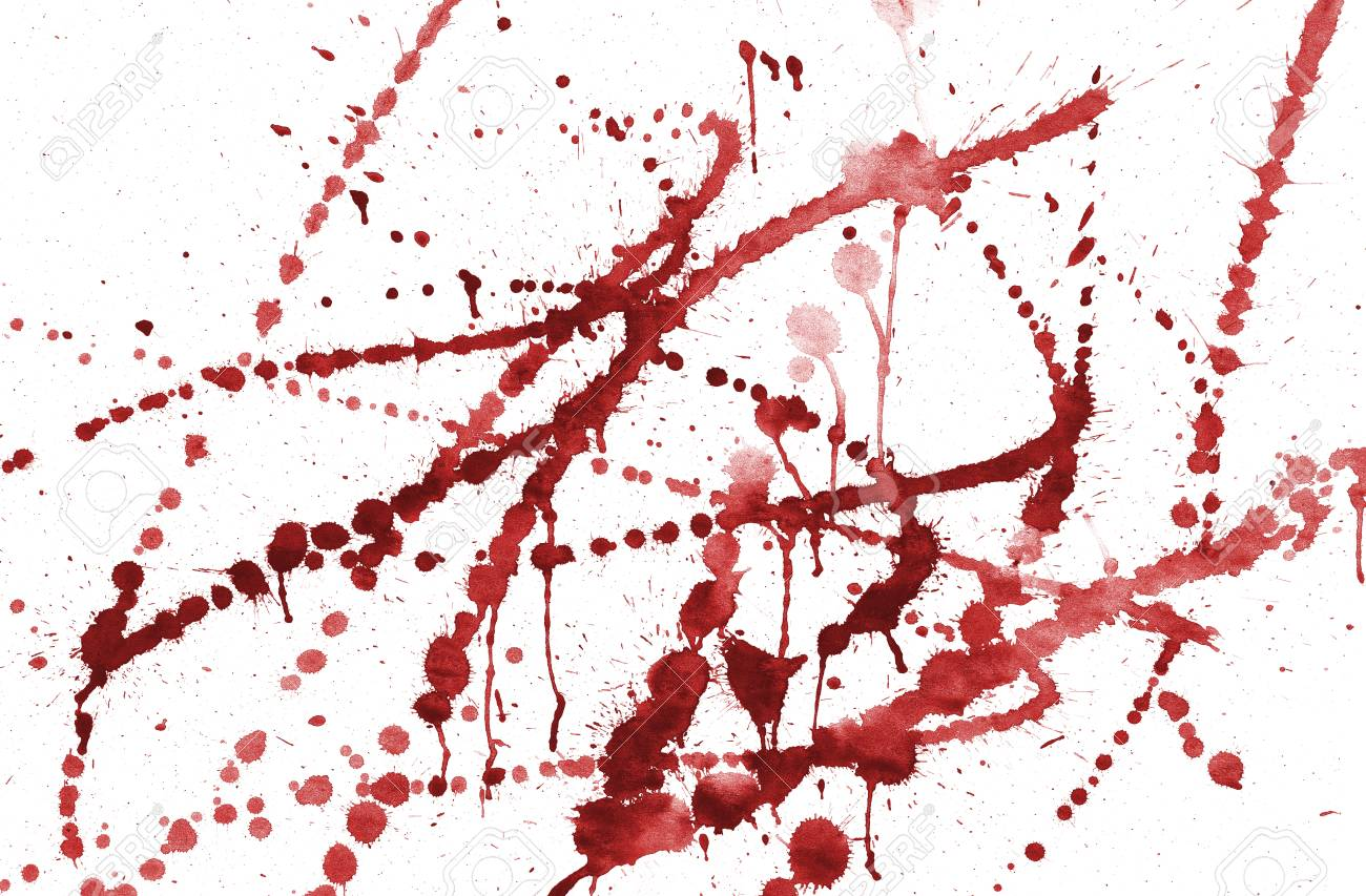 spots of red watercolor on an isolated white background Stock Photo - 16328553