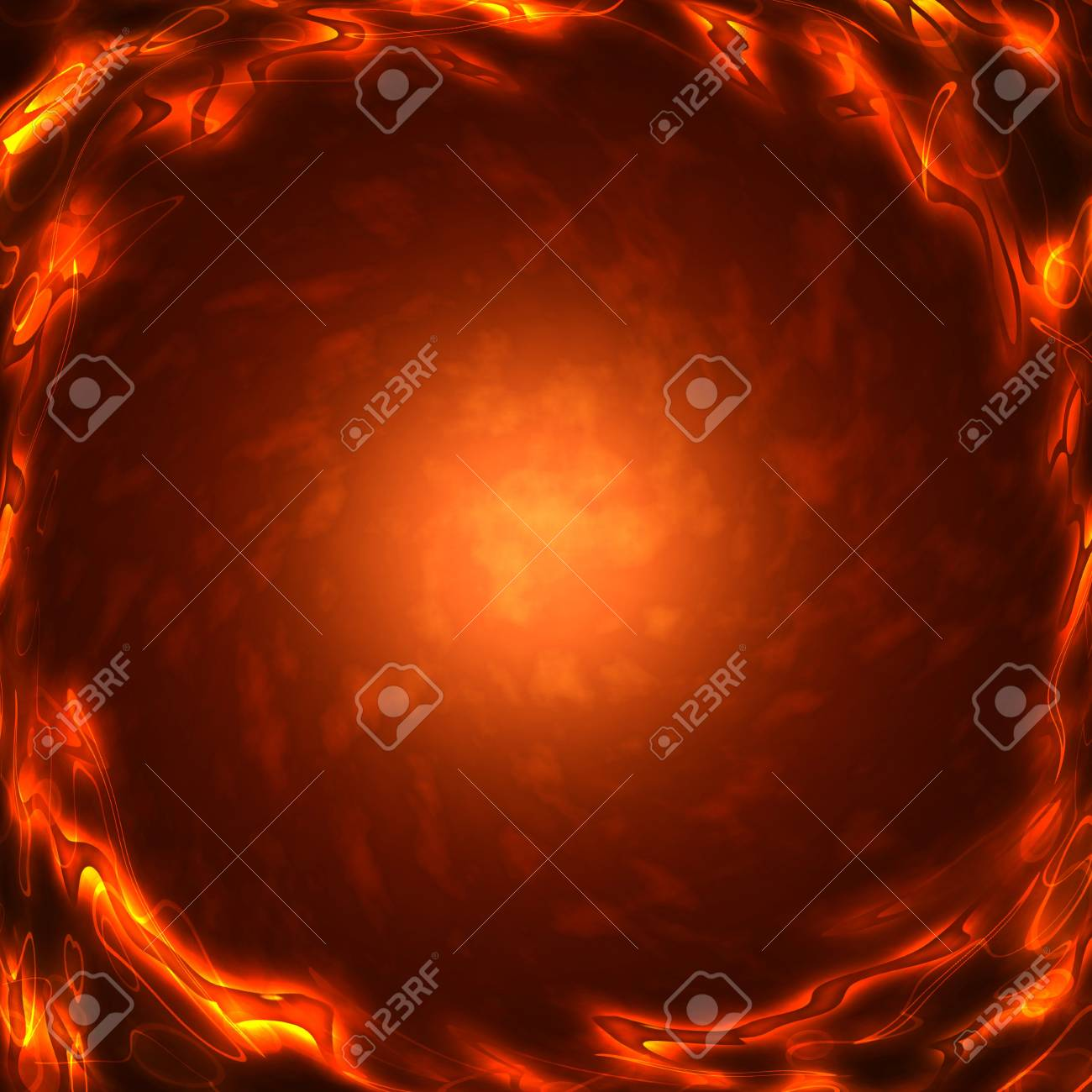 frame of the burning elements, abstract background Stock Photo - 16340470