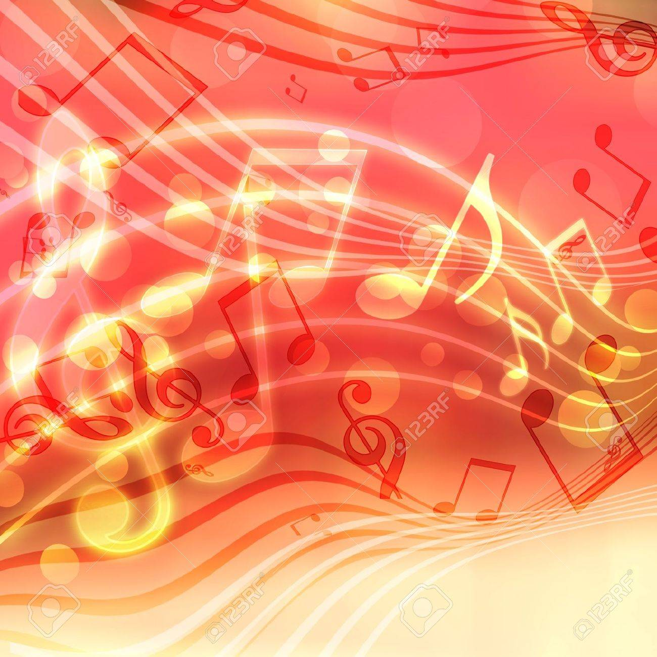 abstract musical background with blurred lights Stock Photo - 16395512