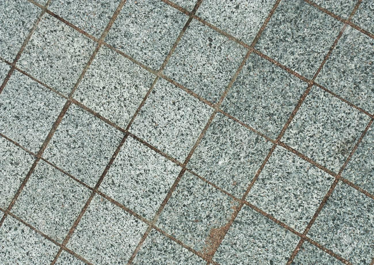 Outdoor Gray Granite Tile Texture Stock Photo