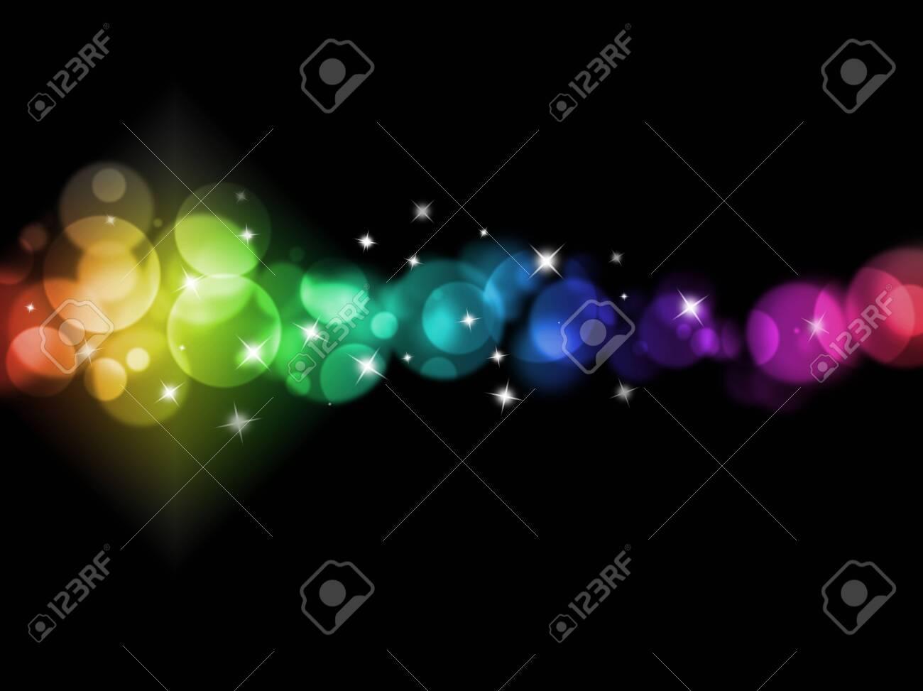 blurred colored lights holiday illumination background - 147303271