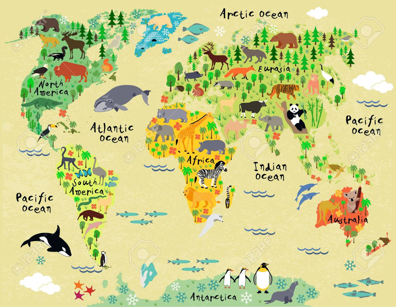 Animal map of the world for children and kids on playas n. america, rivers america, map italy, map europe, funny america, ohio state america, states in america, latin america, map mexico, map canada, north america, atlas america, map belize, club america, central america, map georgia, vincennes map america, map australia, physical map america,