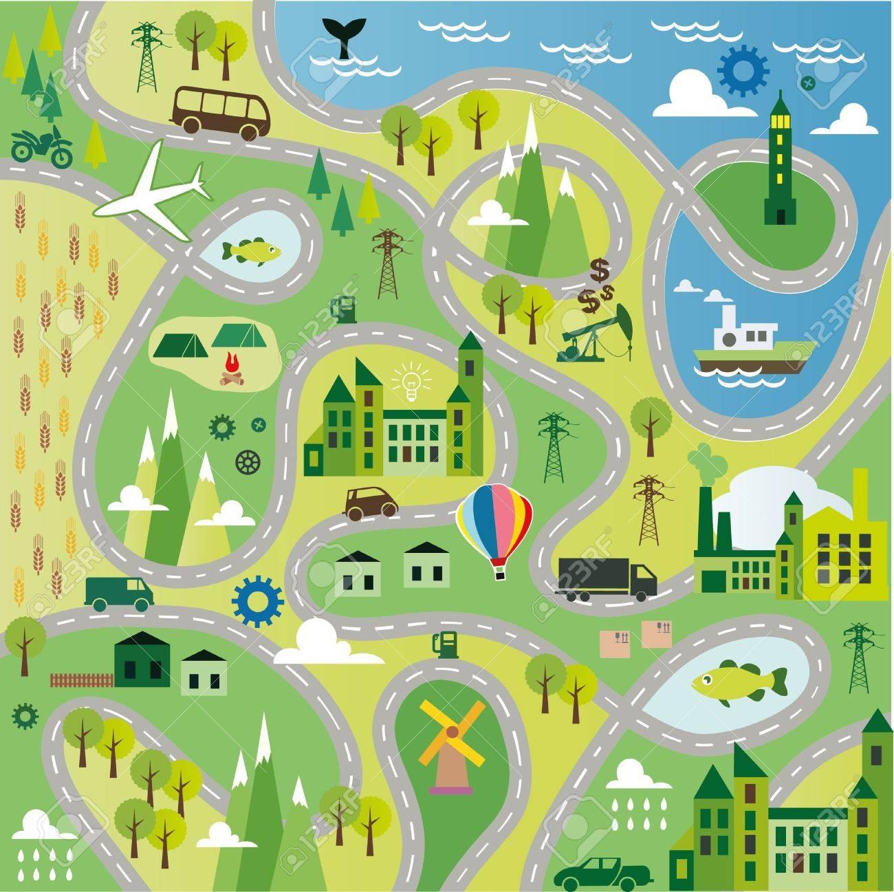 cartoon map royalty free cliparts vectors and stock illustration image 36880702 cartoon map