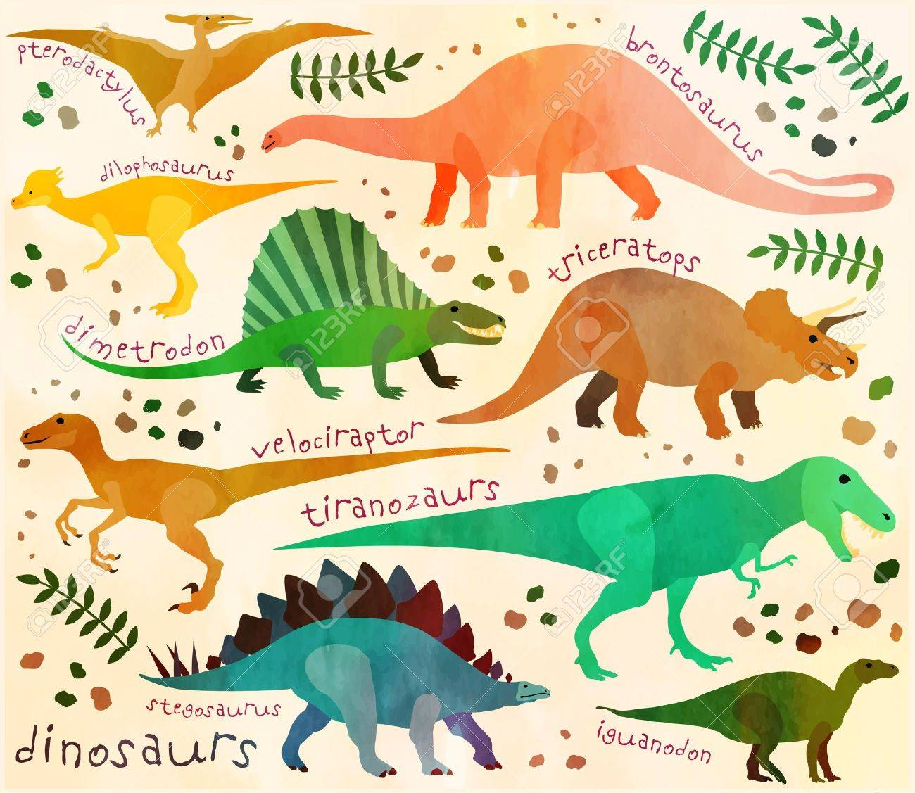 Pattern With Cartoon Dinosaurs For Kids Vector Illustration Royalty Free Cliparts Vectors And Stock Illustration Image 40923804 They first appeared during the triassic period, between 243 and 233.23 million years ago. pattern with cartoon dinosaurs for kids vector illustration