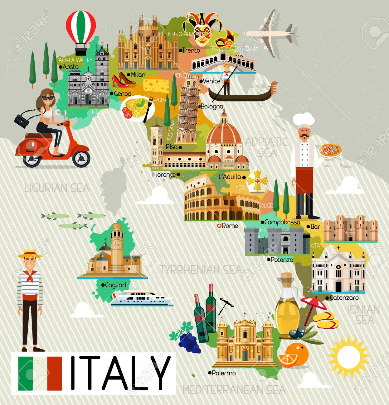 Map Of Italy Images.Italy Travel Map