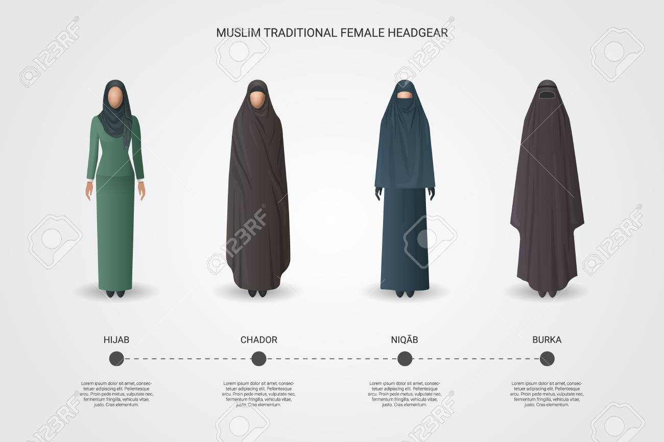Muslim Female Headgear Set - Hijab 266662f22bd