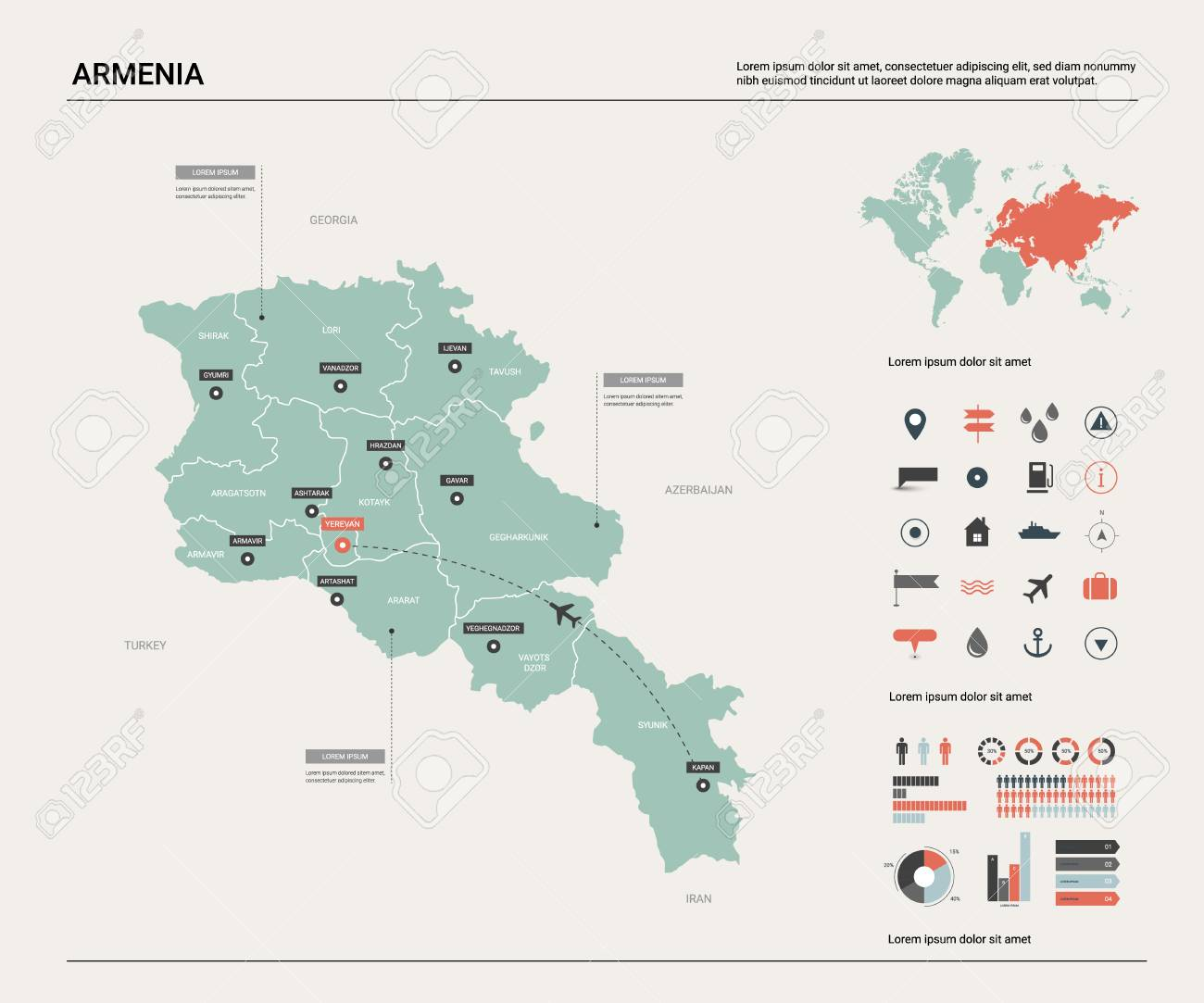 Vector map of Armenia. High detailed country map with division,.. on tashkent world map, monaco world map, tallinn world map, almaty world map, zagreb world map, liechtenstien world map, andorra world map, bishkek world map, karachi world map, astana world map, vatican city world map, kiev world map, sierra leone world map, vilnius world map, podgorica world map, dushanbe world map, kazan world map, riga world map, odessa world map, malta world map,