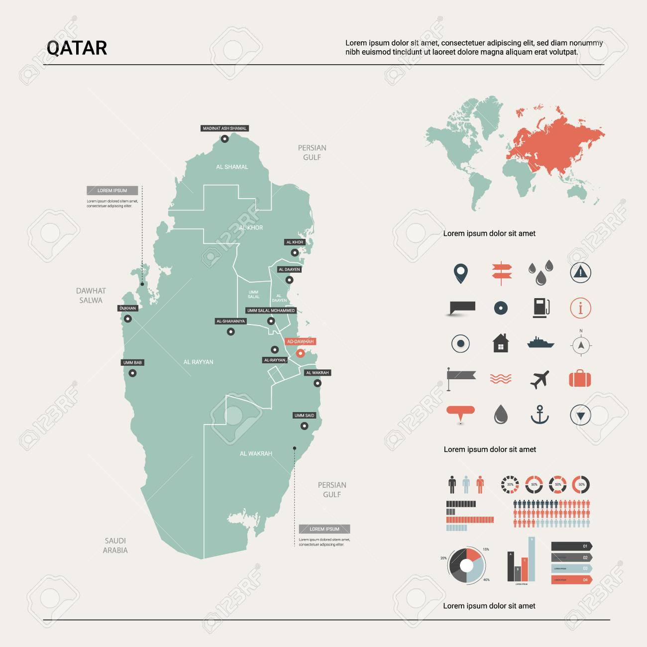 Vector map of Qatar. High detailed country map with division,.. on world map uae, world map in bangladesh, world map in norway, world map in chile, world map in nigeria, world map in china, world map kuwait, world map in arabic, world map in sri lanka, world map iraq, world map in france, world map in austria, world map jordan, world map in russia, world map in england, world map bahrain, world map in vietnam, world map doha, world map in english, world map in french,