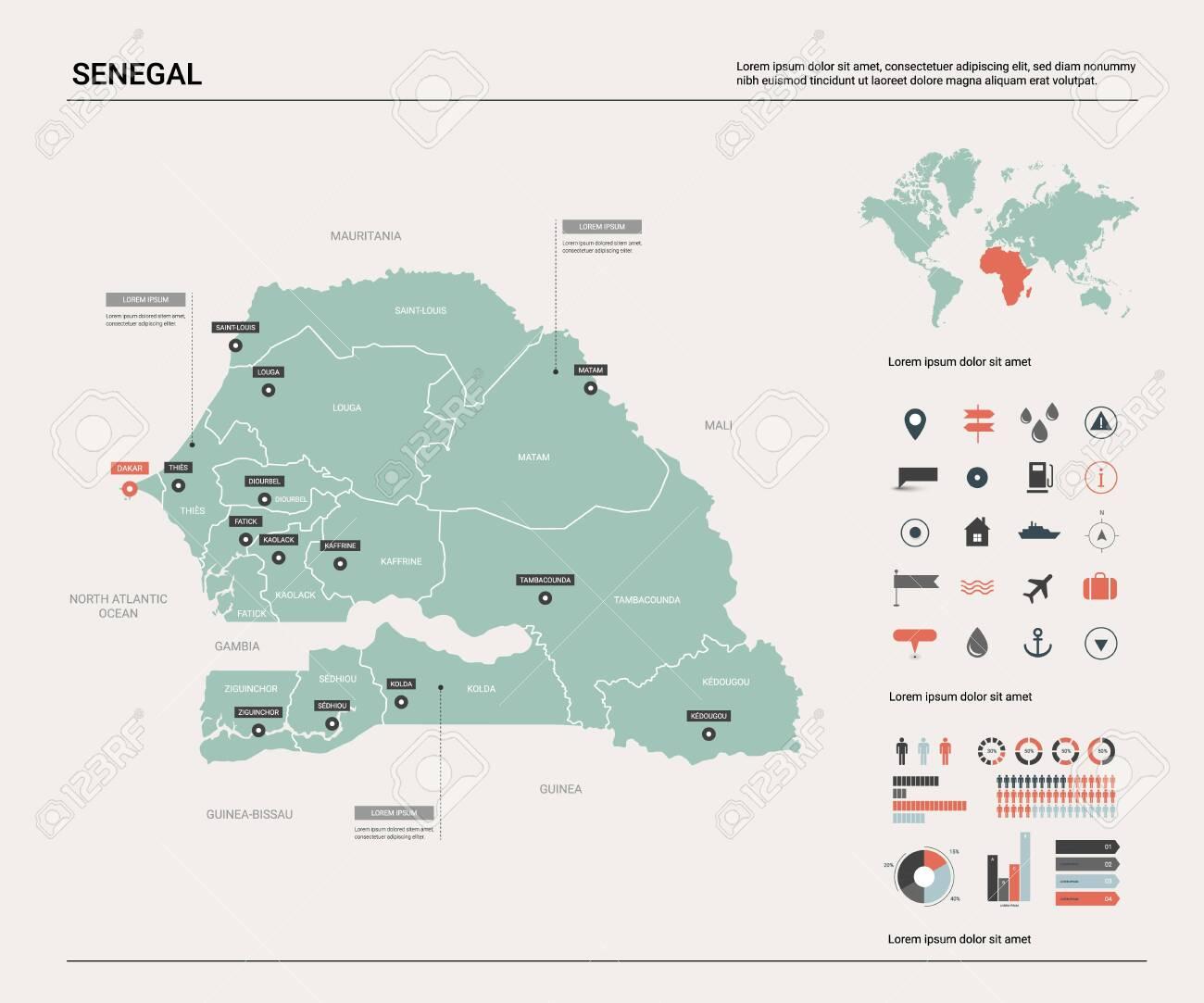 on dakar city map