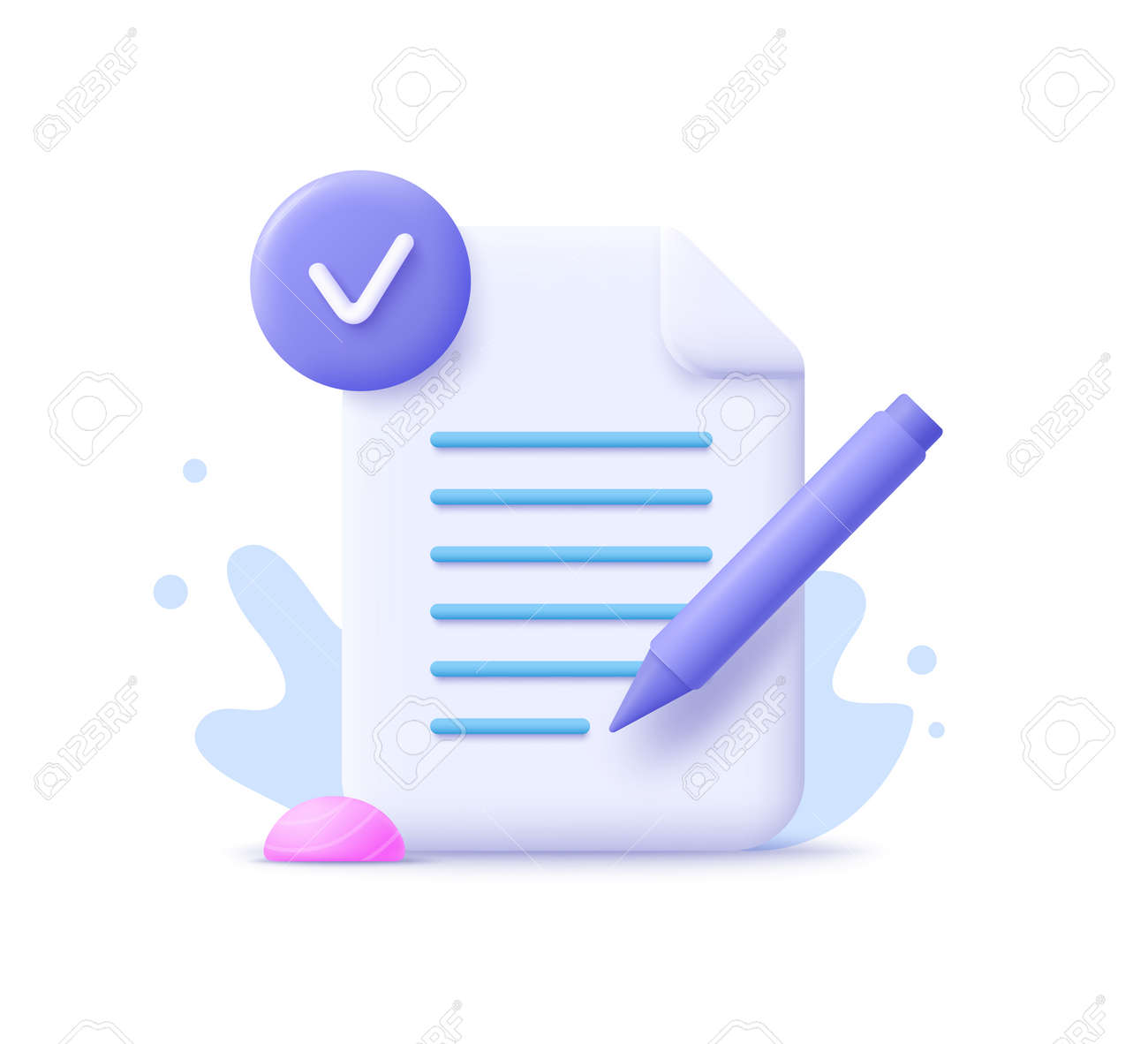 Copywriting, writing icon. Creative writing and storytelling, education concept. Writing education concept. 3d vector illustration. - 171516839