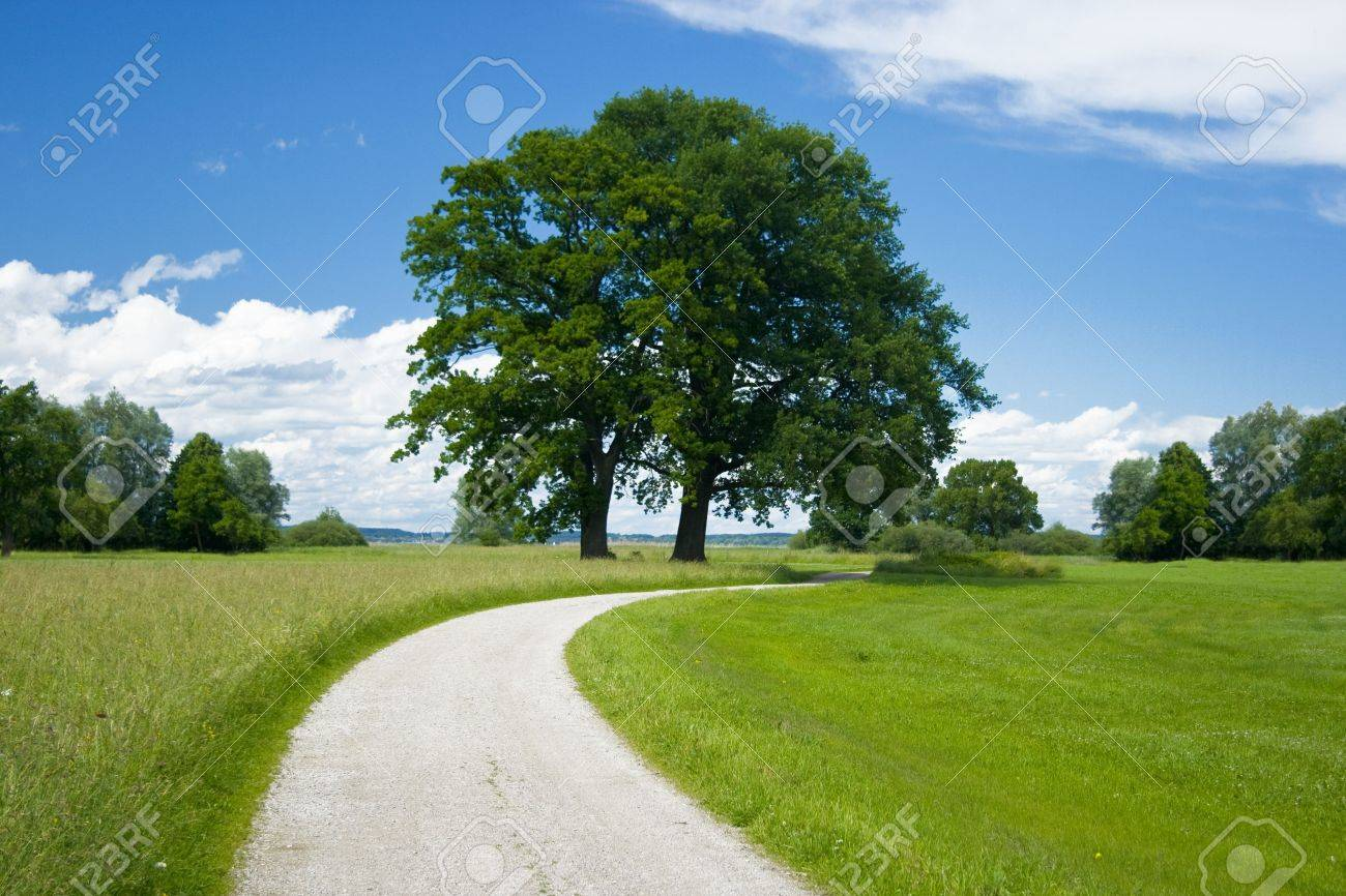 Bavarian Landscape With Away On A Nice Weather Day Stock Photo Picture And Royalty Free Image Image 5108944