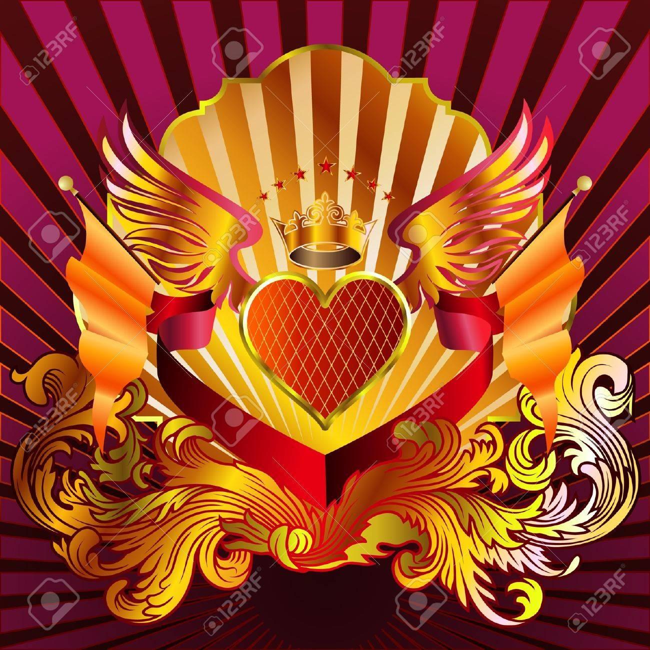 Heart Emblem 02 Stock Vector - 21648706