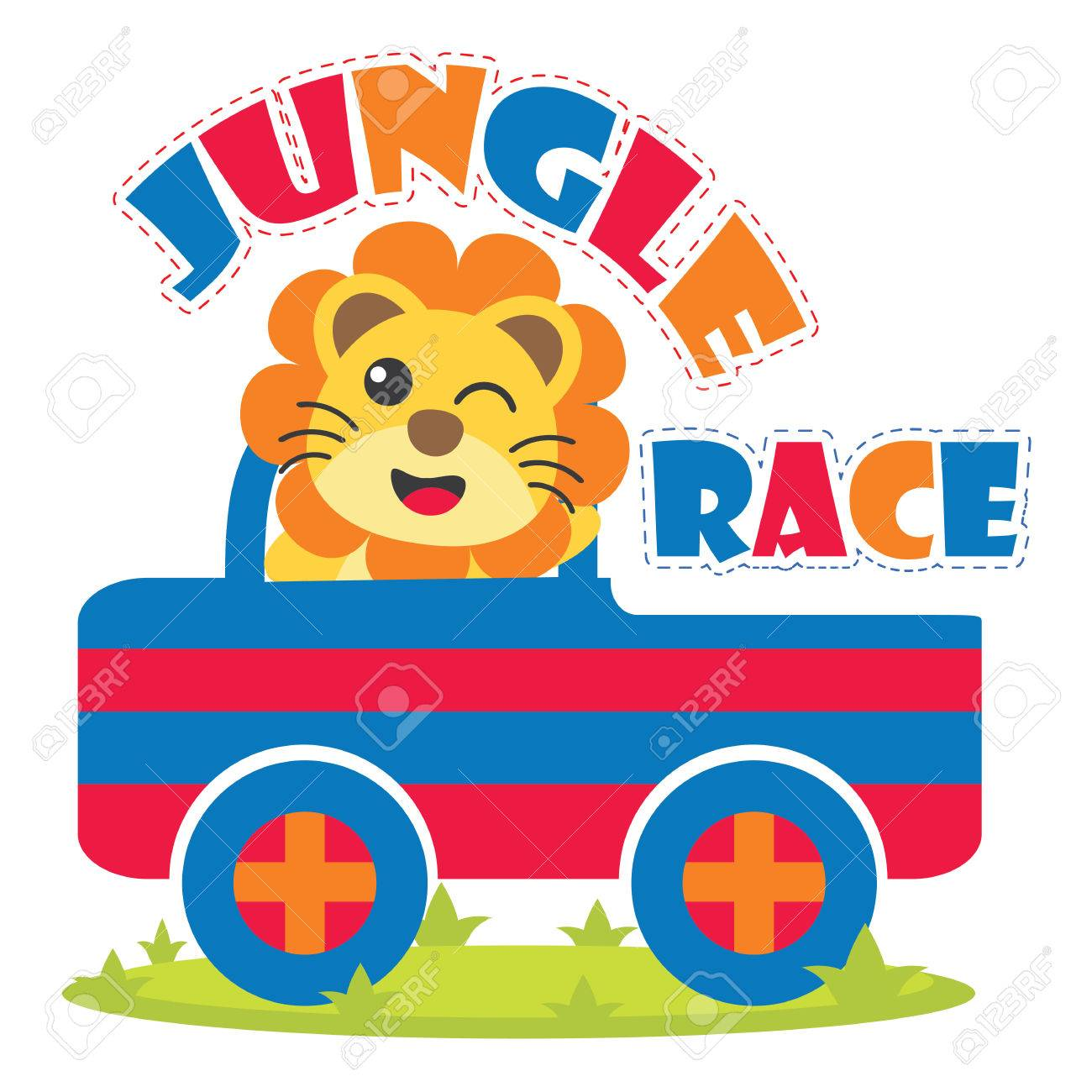 かわいいライオンは子供の t シャツのデザイン、保育園の壁と壁紙の
