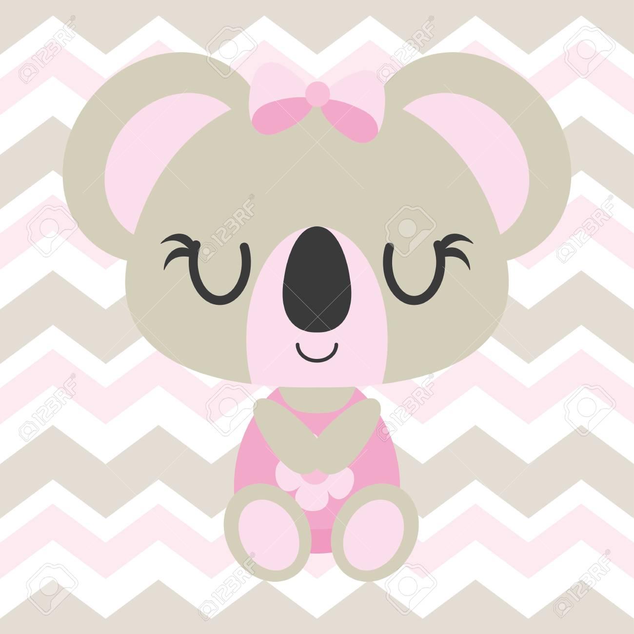 Good Wallpaper Koala Cartoon - 84410973-cute-baby-koala-sleeps-on-chevron-background-vector-cartoon-illustration-for-baby-shower-card-design  Gallery_30516   .jpg