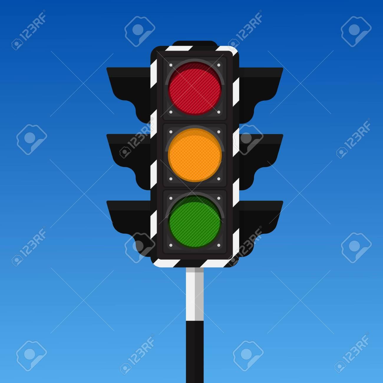 Traffic light vector illustration. - 128283011