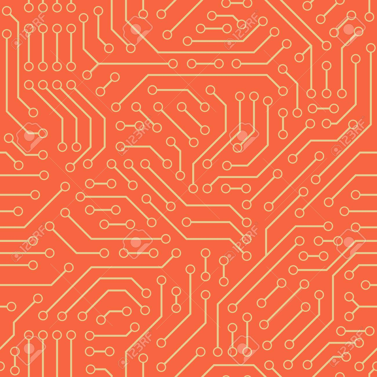 Computer Circuit Board. Seamless Pattern. Royalty Free Cliparts ...