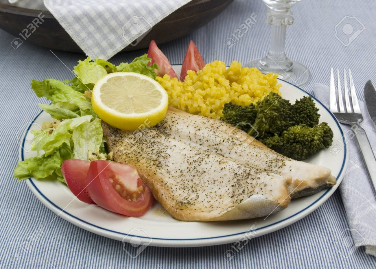 Rainbow trout dinner Stock Photo - 7317205