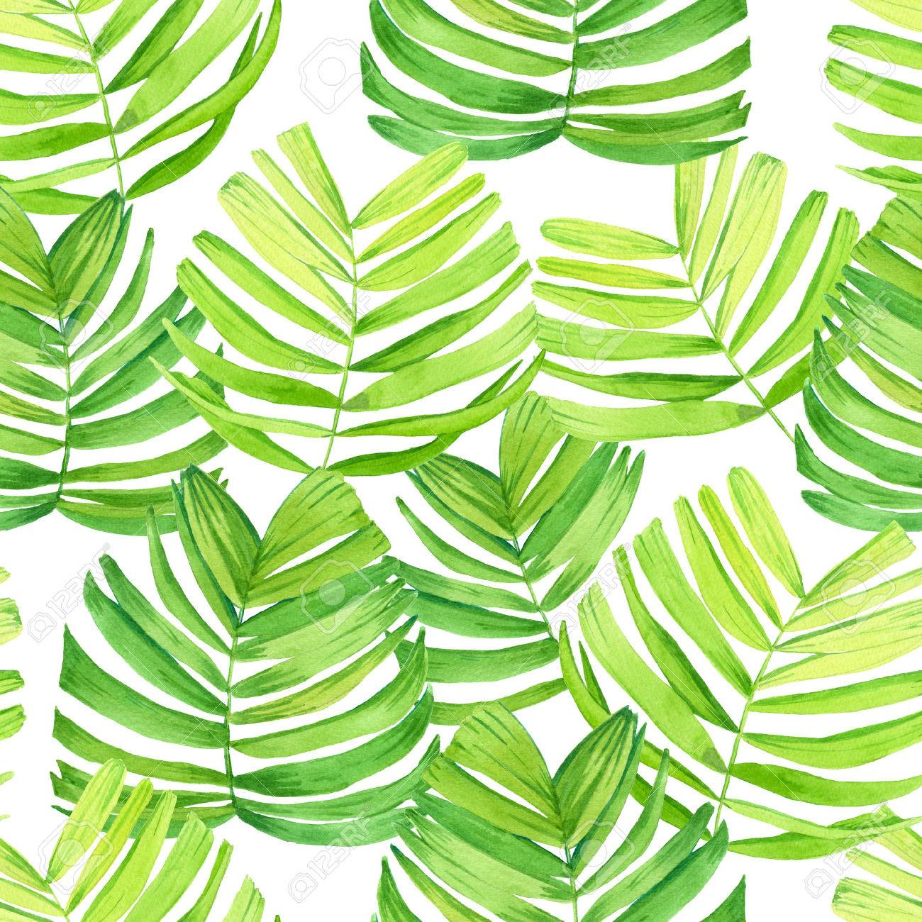 Seamless Background With Watercolor Tropical Leaves Beautiful Stock Photo Picture And Royalty Free Image Image 58751969 Works as a background where you can add images or text. seamless background with watercolor tropical leaves beautiful