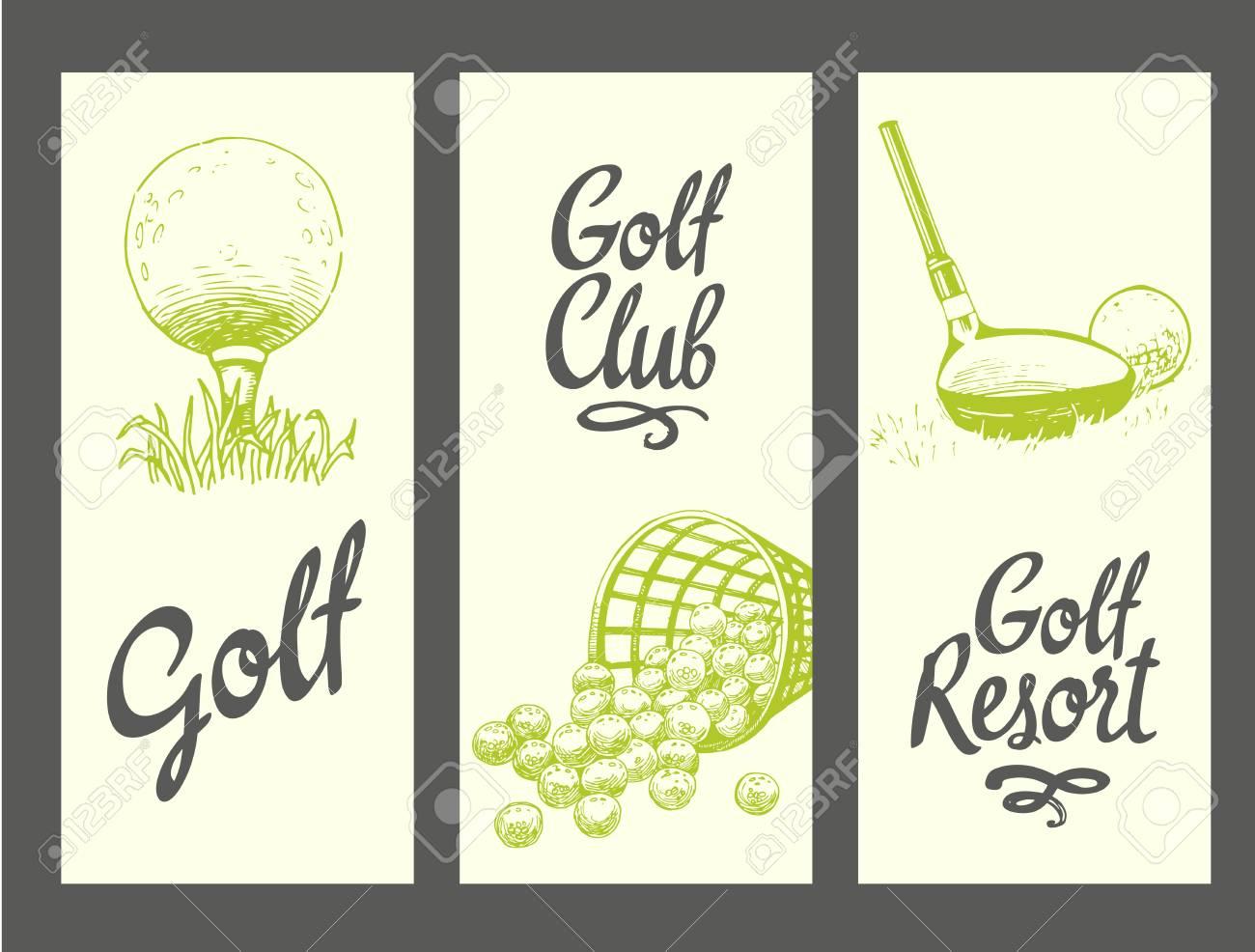 9daef86e1 Banners De Diseño De Golf Con Pelota