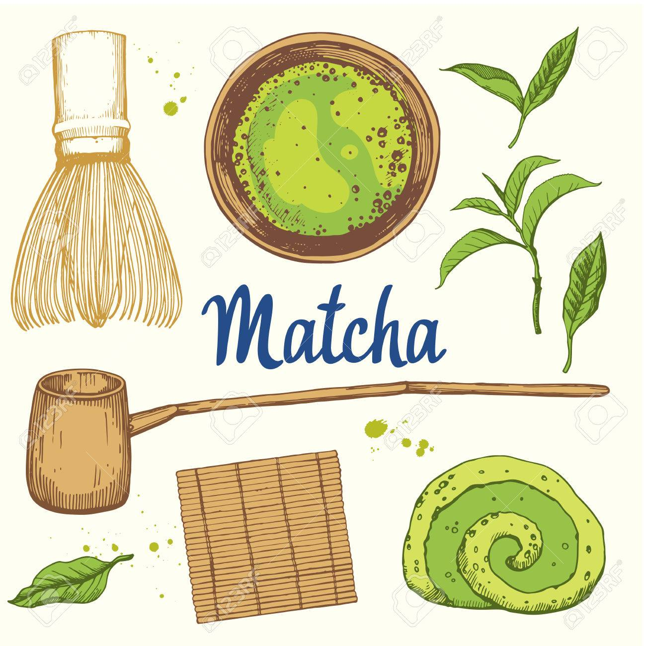 日本の民族や国家お茶会です抹茶ティータイムの伝統あなたの設計の