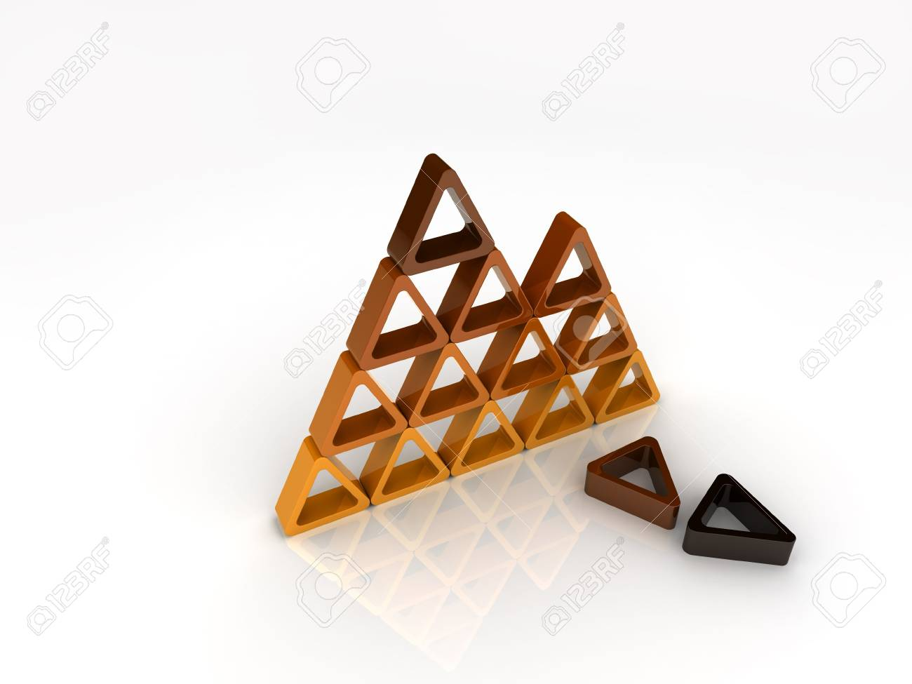 Broken orange pyramid Stock Photo - 6045687