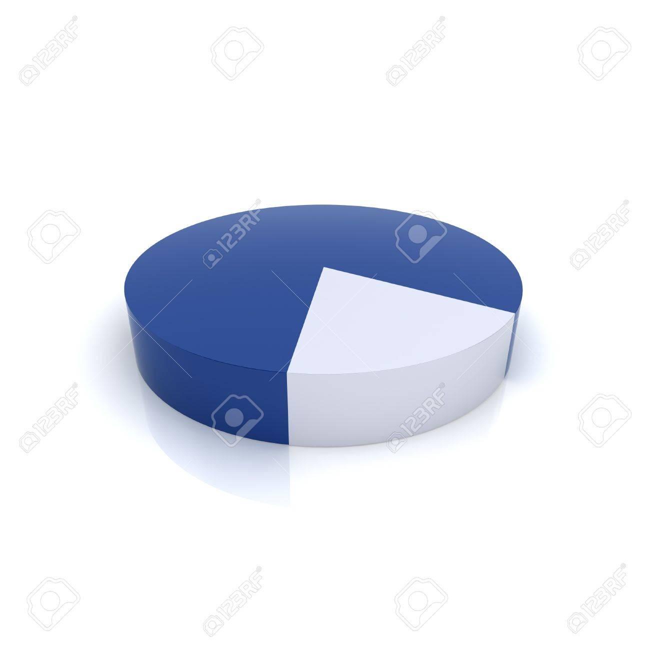 Illustration of metallic pie chart (blue collection) - 10131356