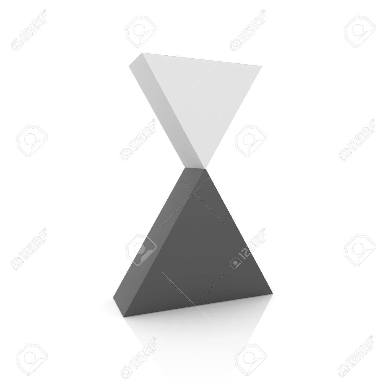 Superbe Concept De Lu0027équilibre Parfait Avec Deux Triangles (collection Noire)  Banque Du0027
