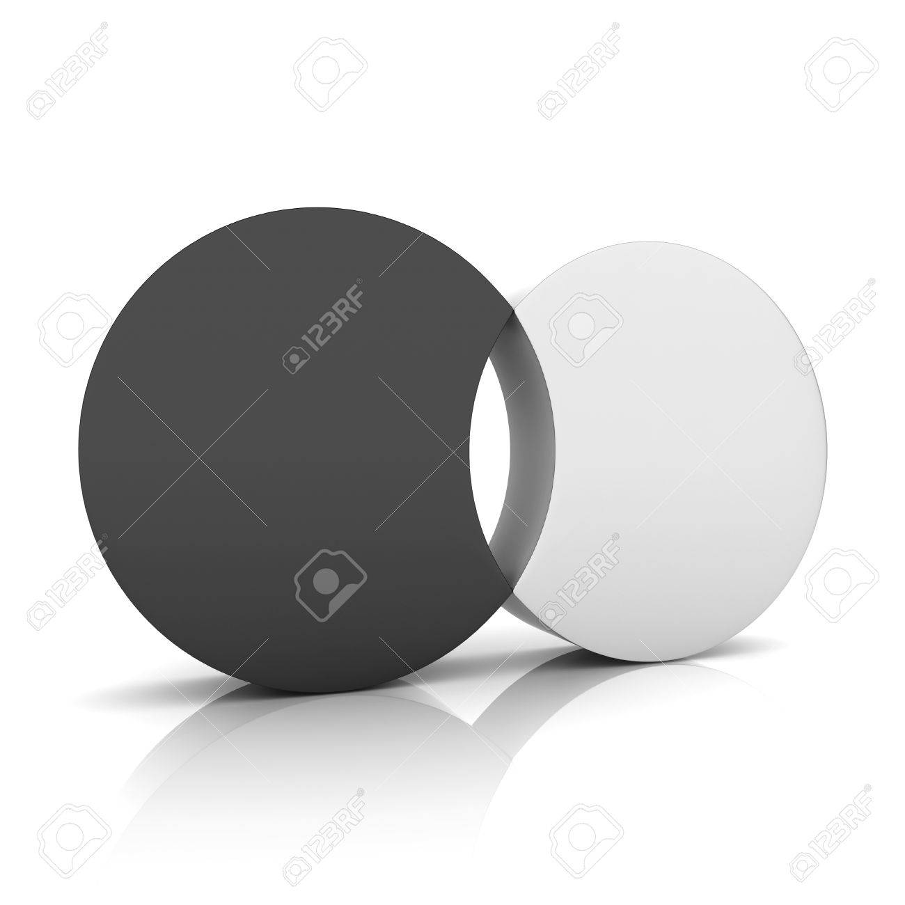 418c9a2f4 Black metallic symbol with two cylinders and hole (concept of union) Stock  Photo -