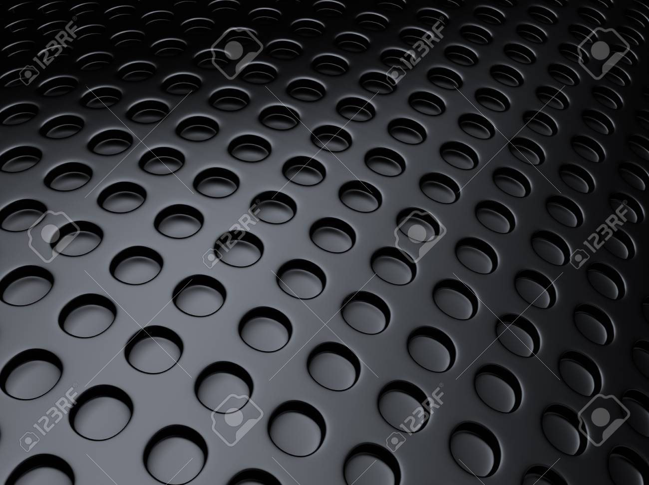 Black metallic background with lot of perforated dots Stock Photo - 18701948