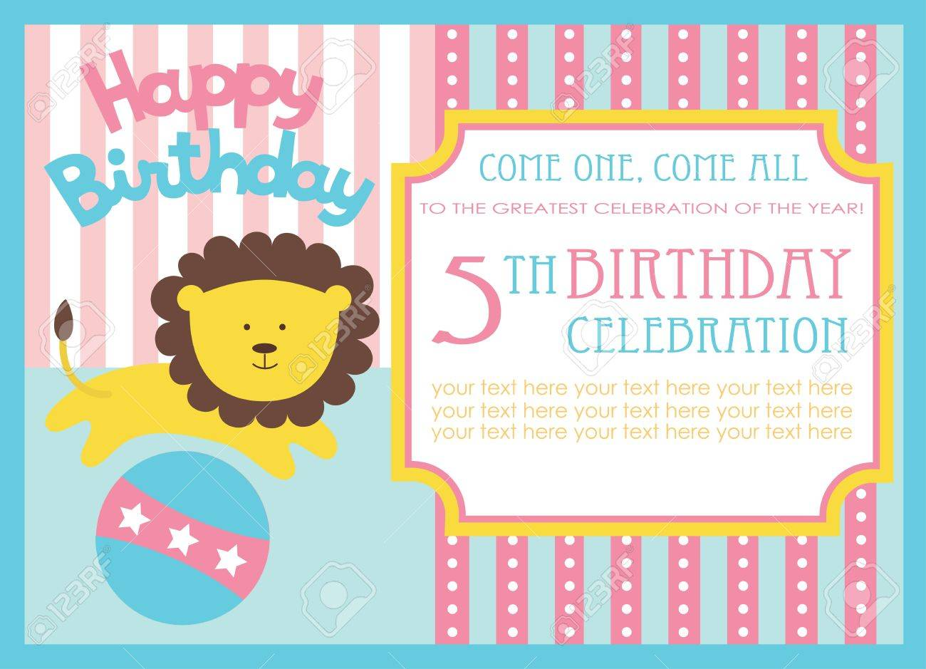 Kid birthday invitation card design vector illustration royalty kid birthday invitation card design vector illustration stock vector 20561320 filmwisefo