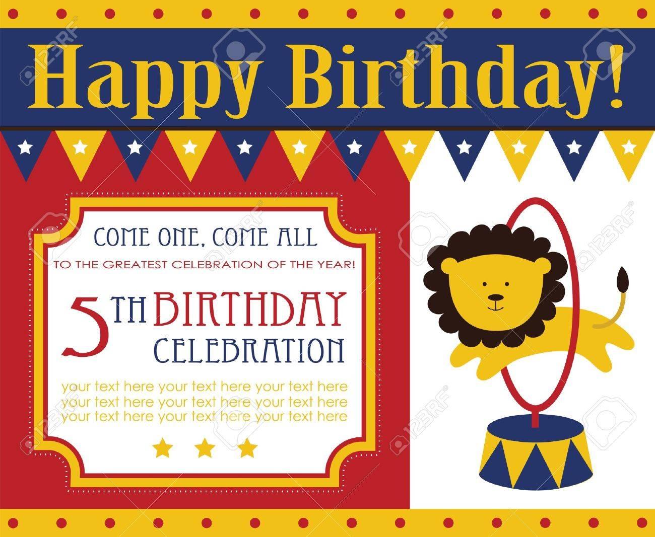 Kid birthday invitation card design vector illustration royalty kid birthday invitation card design vector illustration stock vector 20562524 stopboris Gallery