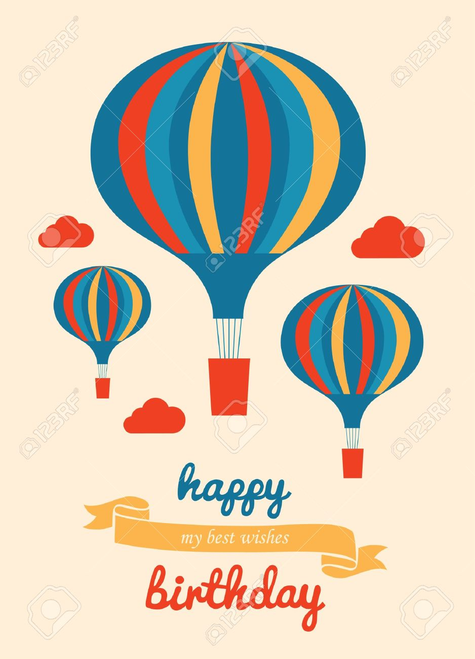 Happy Birthday Greeting Card Vector Illustration Royalty Free – Image of Birthday Greeting