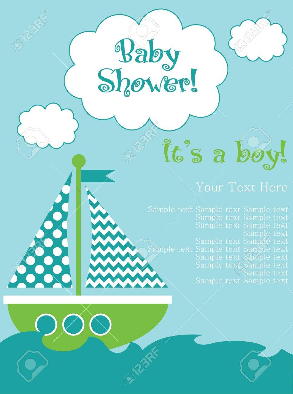 baby shower card design. vector illustration Stock Vector - 20561720