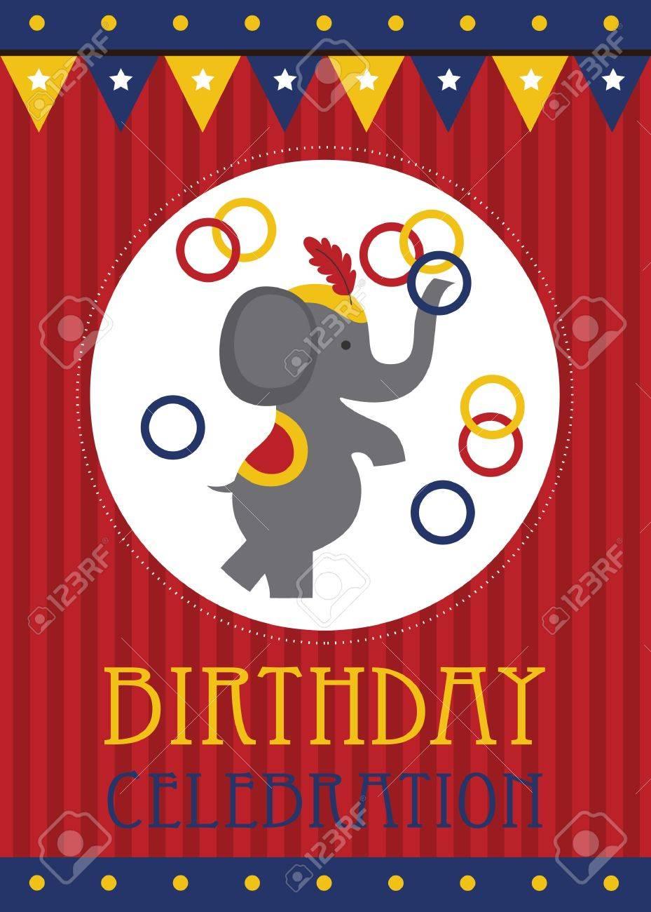 kid happy birthday card design. vector illustration Stock Vector - 20560519