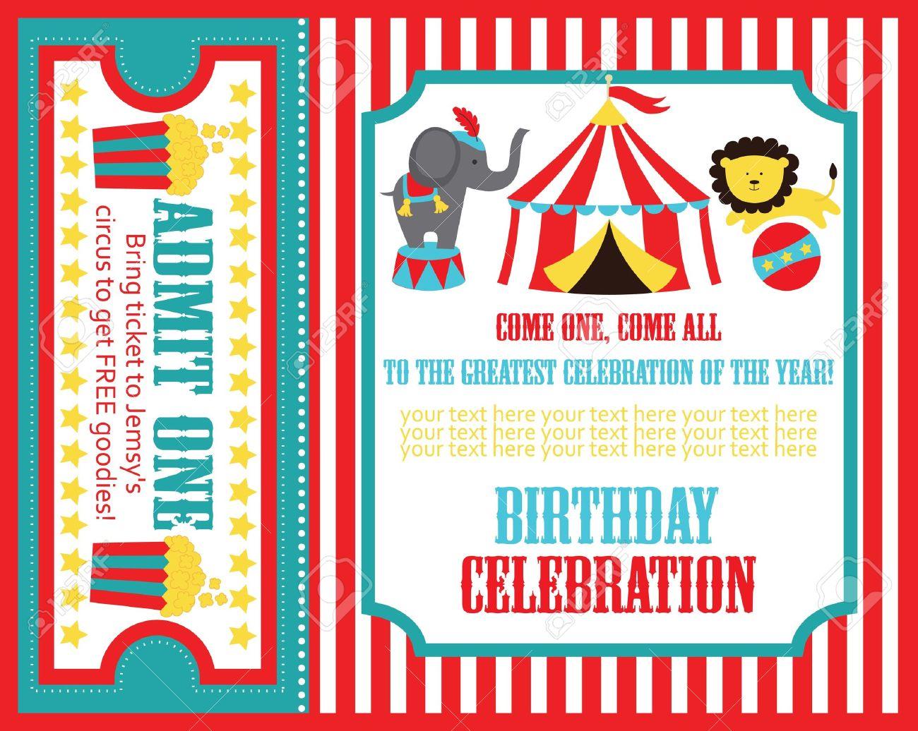 kid birthday invitation card design. vector illustration Stock Vector - 20562490