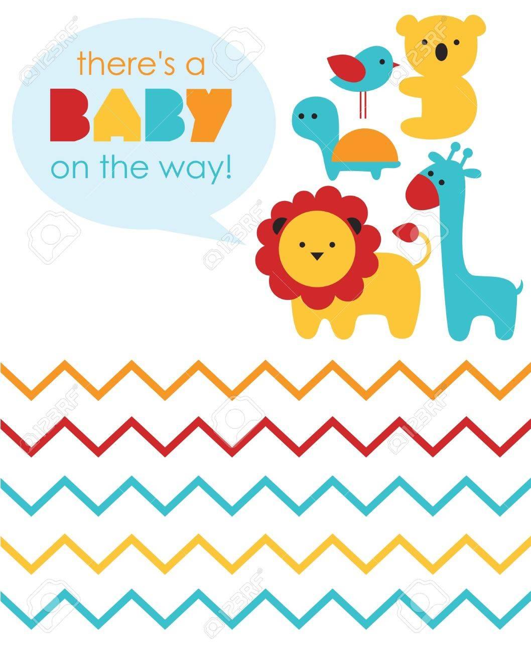 baby shower design. vector illustration - 20560155