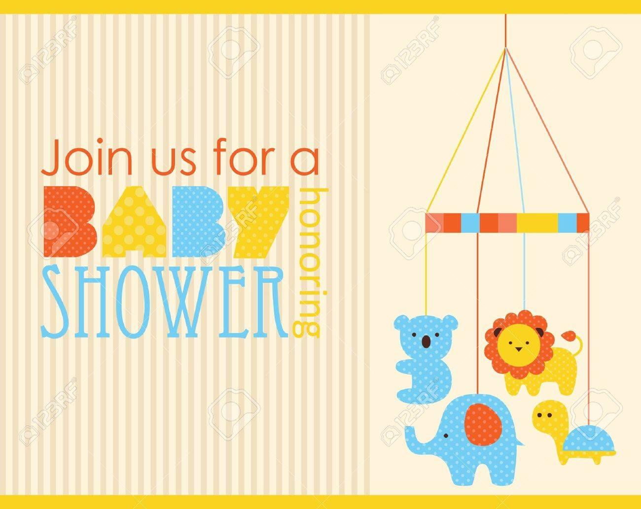 baby shower card design. vector illustration - 20562870