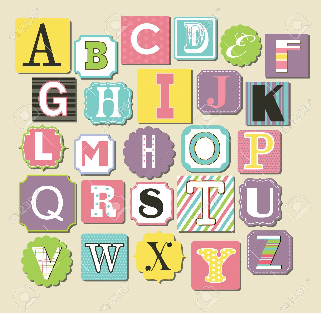 Cute alphabet design vector illustration royalty free cliparts cute alphabet design vector illustration stock vector 20562288 altavistaventures Images