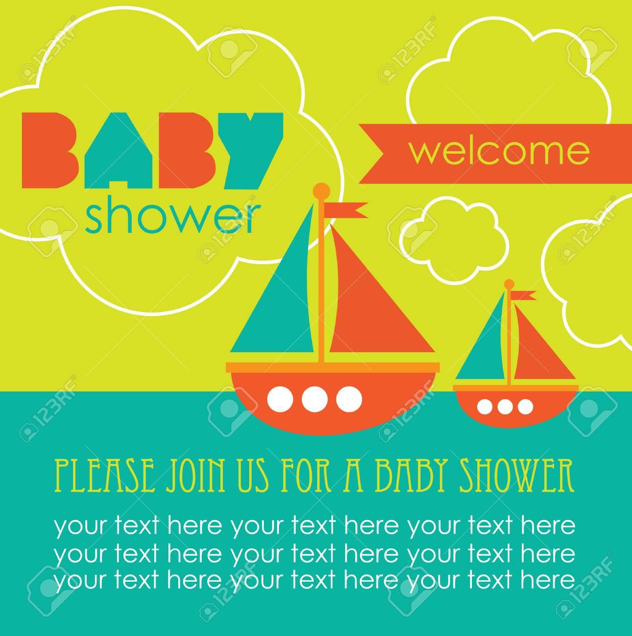 baby shower card design. vector illustration Stock Vector - 20562527