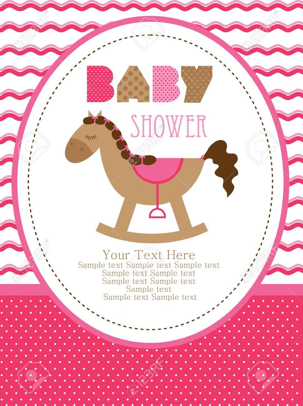 baby shower design, cute toy horse. vector illustration Stock Vector - 20562292