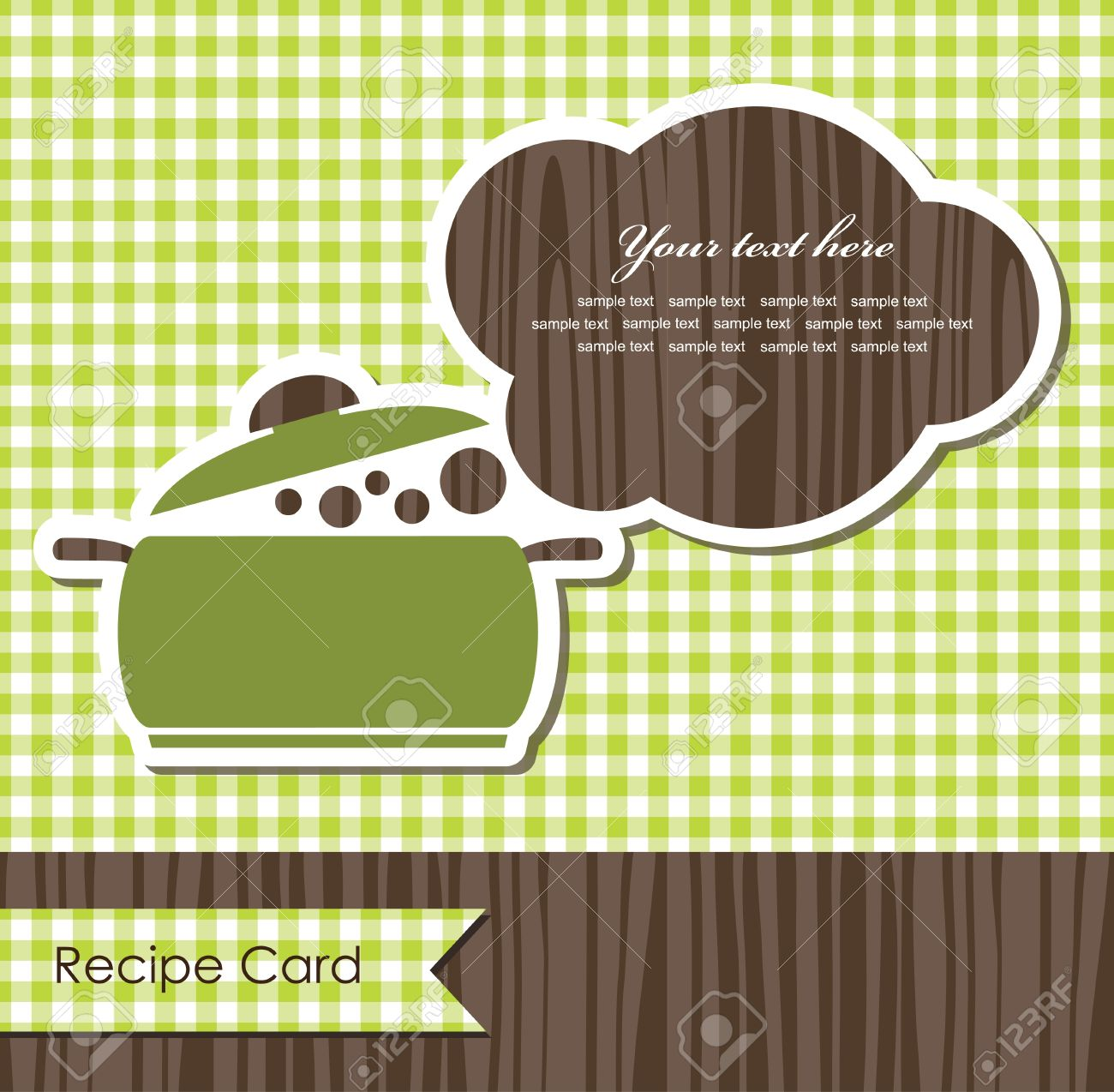 Cooking Book Cover Vector Illustration Stock