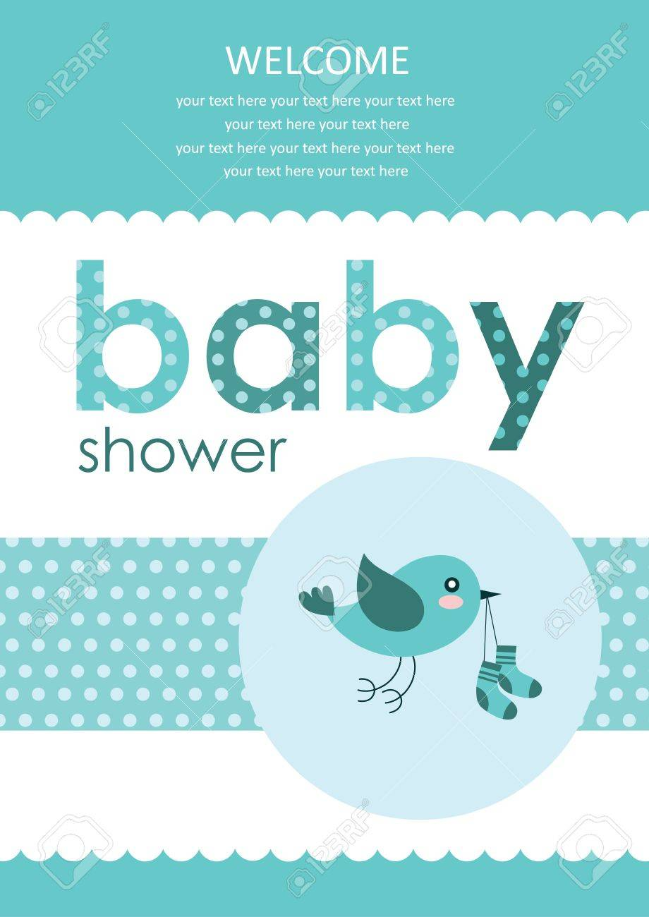 Welcome Baby Card Design Vector Illustration Royalty Free Cliparts ...