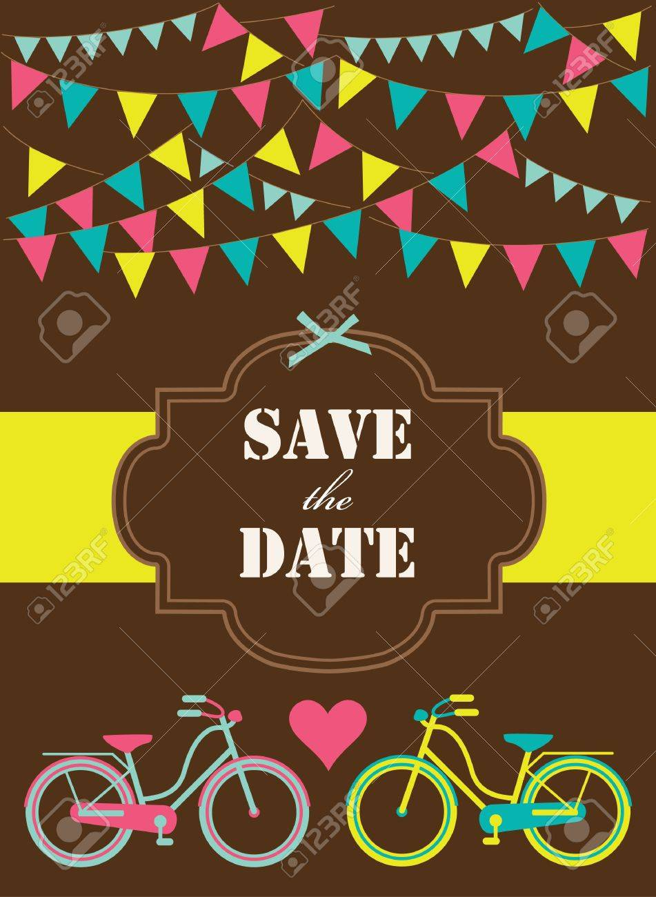 save the date card  vector illustration Stock Vector - 22718270