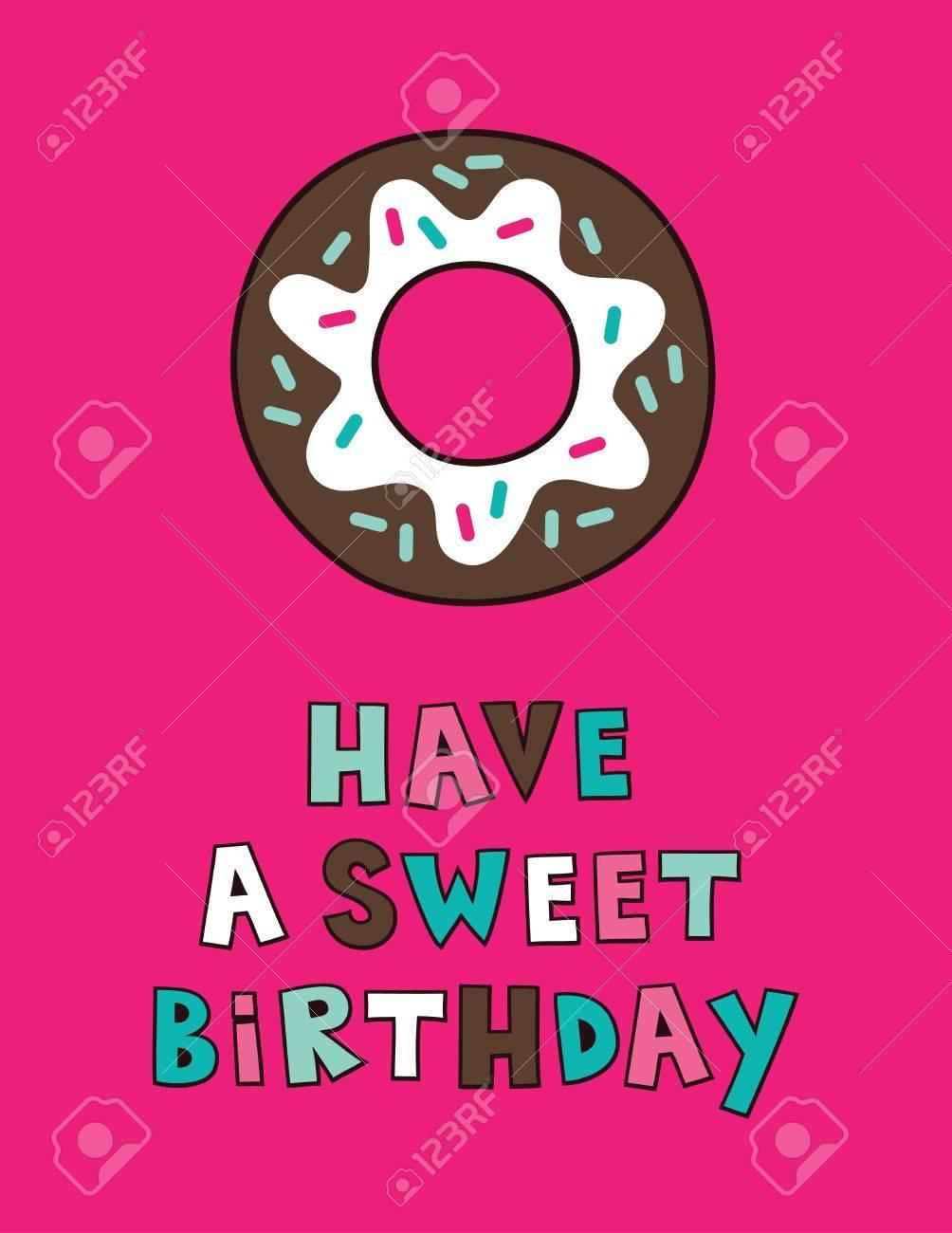 Cute Happy Birthday Card Design Vector Illustration Royalty Free – Cute Happy Birthday Cards