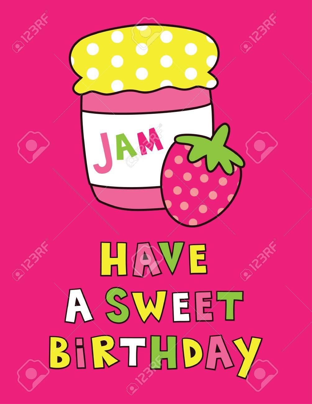 cute happy birthday card design vector illustration royalty free