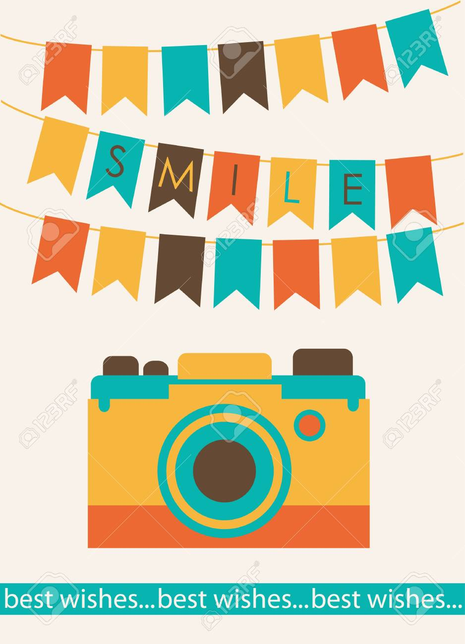 カメラのイラストがかわいいカードのイラスト素材ベクタ Image 22574311