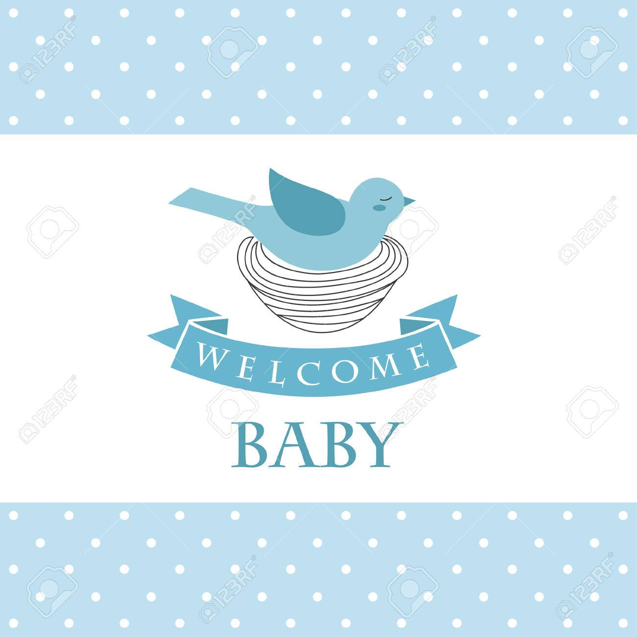 Welcome Baby Card Design. Vector Illustration Royalty Free ...