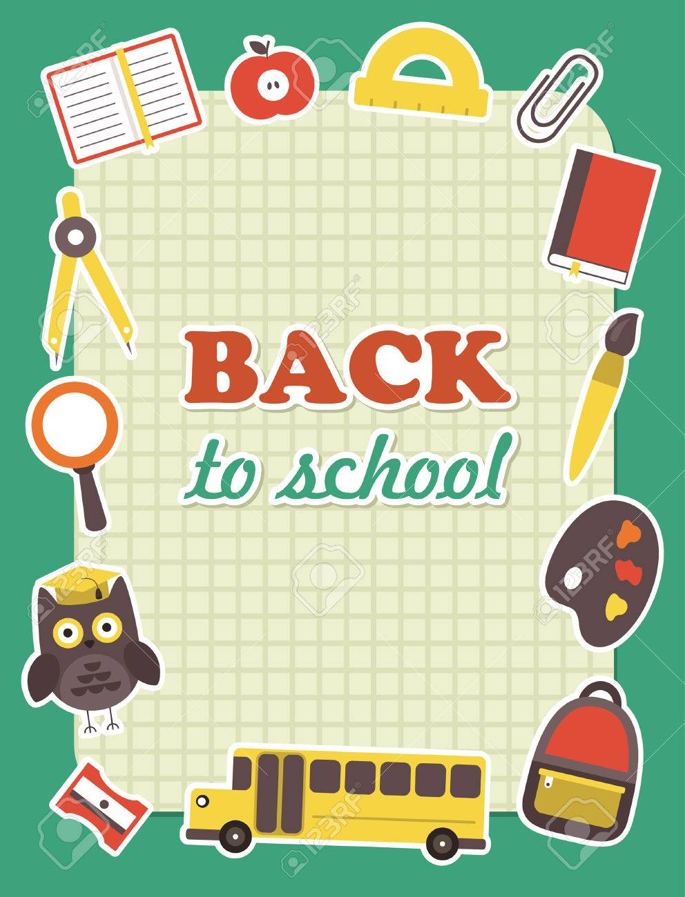 Back To School Frame Design Vector Illustration Royalty Free